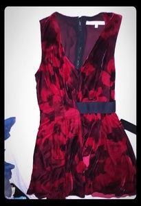 Beautiful black&red velvet dress BY Rachel Roy 2
